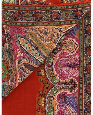 Delhy paisley printed jacquard monogram scarf ETRO