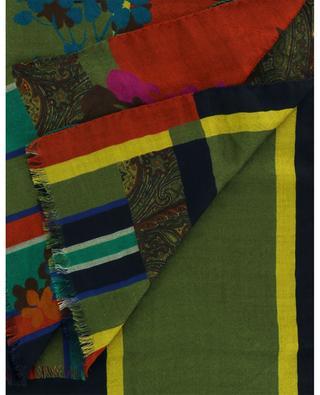 Shaal-Nur monogram jacquard scarf with patchwork print ETRO