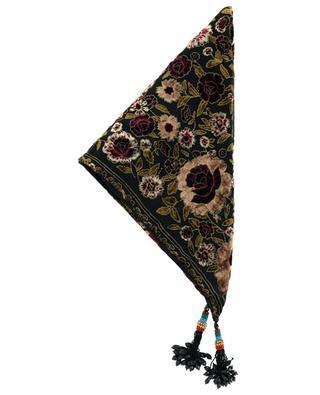 Sera triangular shawl in floral velvet and chiffon ETRO