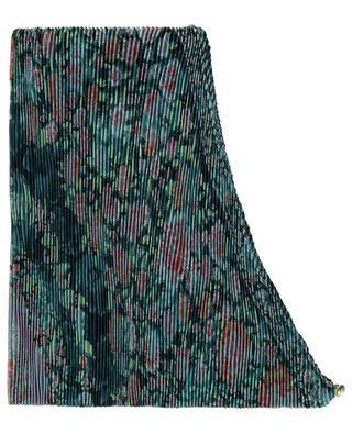 Écharpe plissée en jacquard de soie fleuri Losanga ETRO