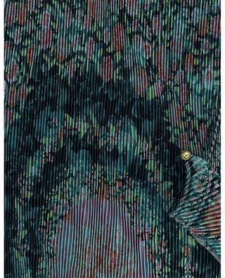 Plissierter Schal aus geblümtem Seiden-Jacquard Losanga ETRO