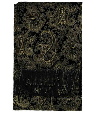 Schal aus Samt mit goldenem Paisley-Print Midnight ETRO