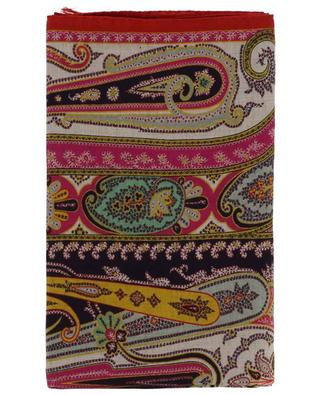 Delhy cashmere and silk scarf with orient patterns ETRO