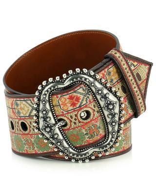 Colourful leather belt ETRO