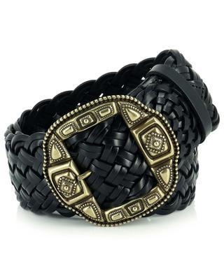 Wide braided leather belt ETRO