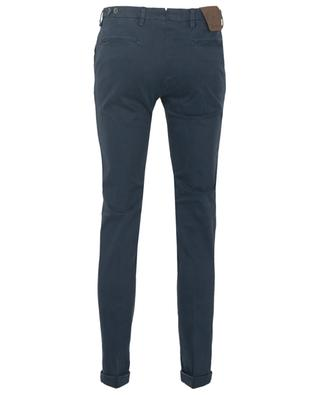 Printed cotton blend chino trousers B SETTECENTO