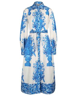 Bluegrace Reedition floral poplin shirt dress VALENTINO