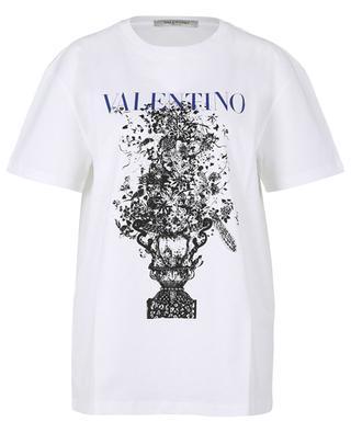 Lässiges T-Shirt aus Jersey mit Print Bluegrace Bouquet VALENTINO
