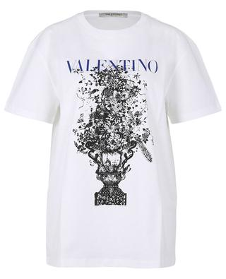 Bluegrace Bouquet loose printed jersey T-shirt VALENTINO