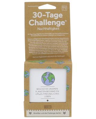 Jeu papier défi en 30 jours Nachhaltigkeit DO IY