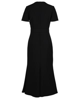 Robe midi ajustée en crêpe couture avec ceinture détail V VALENTINO