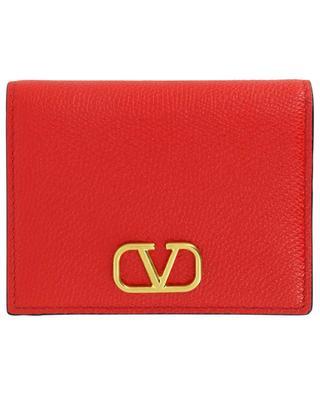 Geldbörse aus genarbtem Kalbsleder VLOGO Signature VALENTINO