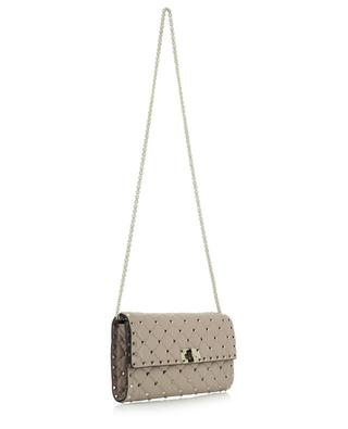 Rockstud Spike Chain quilted nappa leather clutch VALENTINO