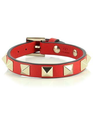 Bracelet à clous en cuir Rockstud VALENTINO