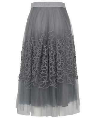 Embroidered tulle midi skirt FABIANA FILIPPI