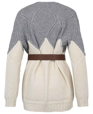 Bicolour cable knit jumper with sequins FABIANA FILIPPI