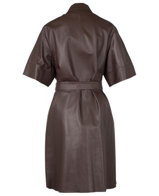 Kurzärmliges Kleid aus Leder mit Gürtel Agate FABIANA FILIPPI