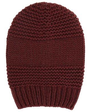 Glittering textured virgin wool beanie FABIANA FILIPPI