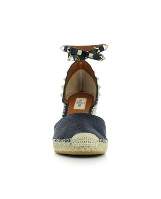 Rockstud Double wedge espadrilles in graine dleather VALENTINO