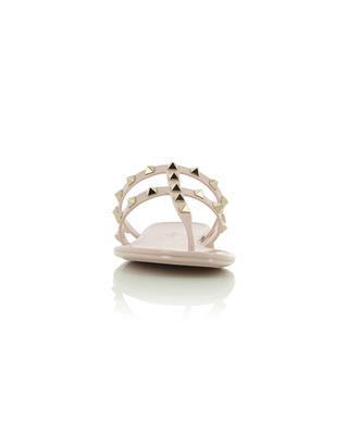 Nietenbesetzte Flip-Flops aus PVC Rockstud VALENTINO
