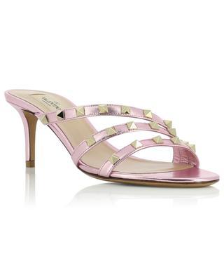Rockstud high-heeled leather slides VALENTINO
