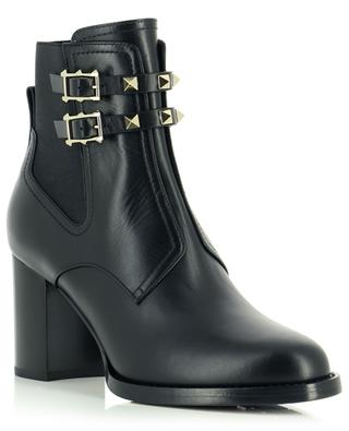 Rockstud smooth leather ankle boots VALENTINO