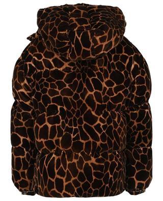 Oversize-Daunenjacke aus Samt mit Giraffen-Print Kundogi MONCLER