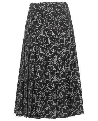 Log printed pleated nylon midi skirt MONCLER