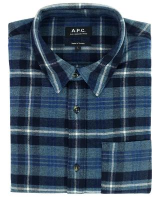 Trek cotton and wool twill checked overshirt A.P.C.