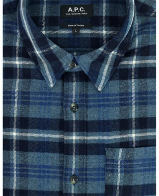 Kariertes Oberhemd aus Baumwoll- und Woll-Twill Trek A.P.C.