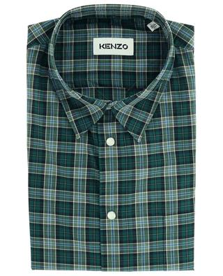 Check pattern cotton shirt KENZO