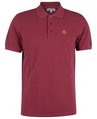 Tiger Crest short-sleeved organic cotton polo shirt KENZO