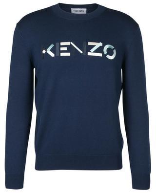 Pull fin en laine mérinos brodé logo KENZO KENZO