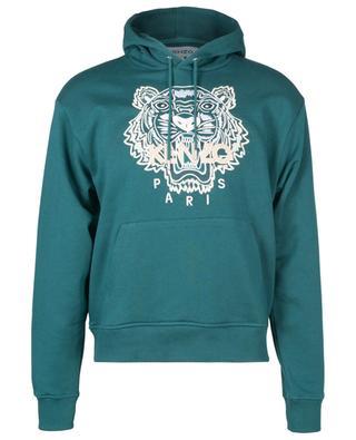 Tiger embroidered hooded sweatshirt KENZO