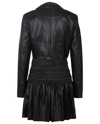 Mini robe à smocks en cuir synthétique SELF PORTRAIT