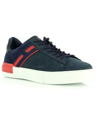Rebel suede and smooth leather low-top sneakers HOGAN