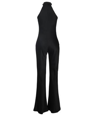 Eve black satin jumpsuit GALVAN LONDON
