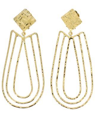 Hammered metal clip earrings POGGI