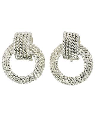Boucles d'oreilles clips plaquées argent POGGI