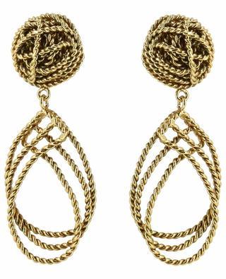 Boucles d'oreilles torsadées plaquées or POGGI
