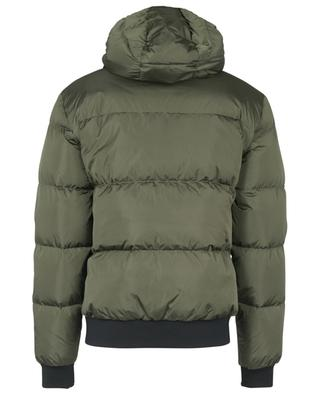 DSQ2 MILANO ITALY printed quilted satin effect hooded down jacket DSQUARED2