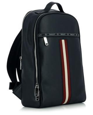 Hassel Bally Stripe adorned slim leather backpack BALLY