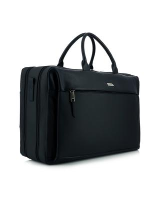Verger weekender type supple canvas and leather suitcase BALLY