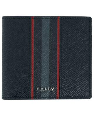 Portefeuille en cuir grainé Bally Stripe Brasai BALLY