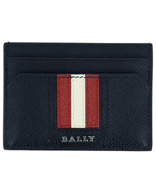 Porte-cartes en cuir grainé Bally Stripe Thar BALLY