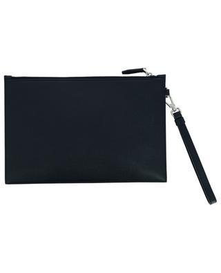 Tenery flat grained leather zippered pouch BALLY