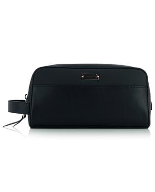 Vakimo canvas and leather toiletry bag BALLY