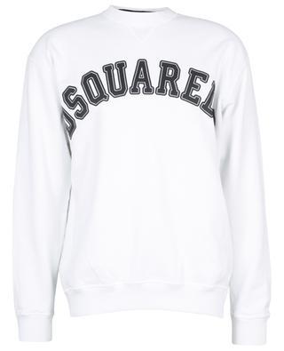 Sweat-shirt à col rond ample imprimé logo College Fit DSQUARED2