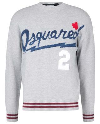Jacquard-Pullover mit Logo und Ahornblatt College DSQUARED2