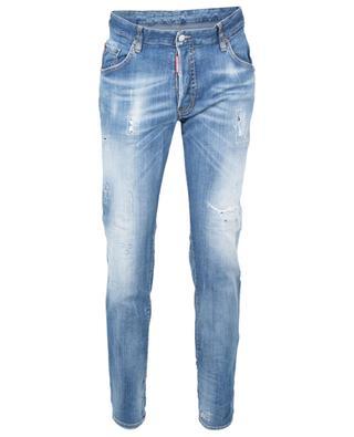Ausgewaschene Slim-Fit-Jeans Underpatch Skater DSQUARED2